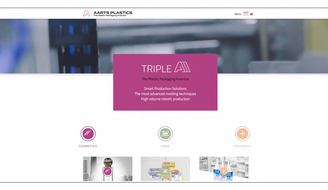 nieuwe website Aarts Plstics